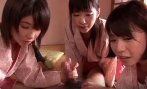 中居さんのアルバイト中の若い女の子たちが厳しい雇い主に逆襲して逆レイプ 尾上若葉 愛須心亜 葵こはる 安土結 木村つな